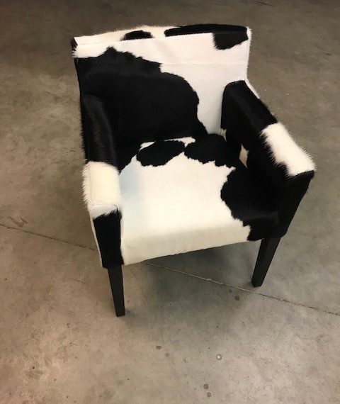 Lederen koeienhuid stoel