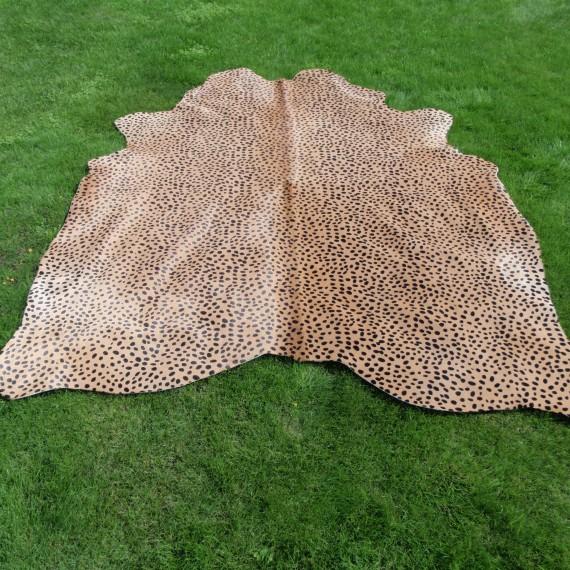 Koeienhuid Cheetah Beige Zwart