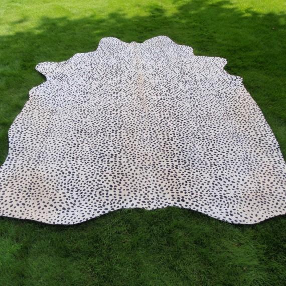 Koeienhuid Cheetah wit zwart