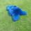 Schapenvacht cobalt blauw
