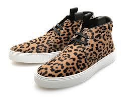 Wild cat print schoen